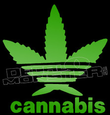 Adidas Cannabis Decal Sticker