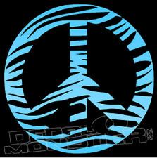 Peace Zebra Pattern Edition Decal Sticker