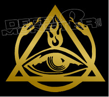 All Seing Eye Order of the Triad Decal Sticker