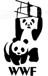 WWF Wrestling Pandas Funny Decal Sticker