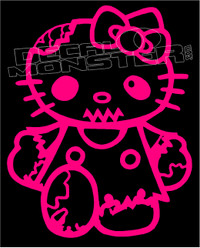 Zombie Kitty Decal Sticker