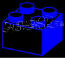 Lego Brick Block 1 Decal Sticker