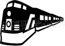 Train 3 Silhouette Decal Sticker