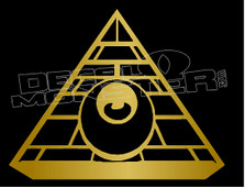 All Seeing Eye Illuminati Freemason Decal Sticker