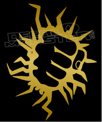 Lightning Fist Wall Smasher Decal Sticker