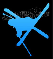 Big Air Ski Jump Silhouette Decal Sticker