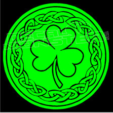 Keltic Clover 7 Decal Sticker