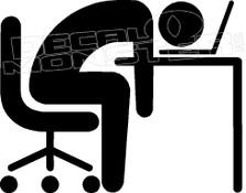 Workaholic 1 Decal Sticker