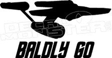 Badly Go Star Trek Decal Sticker