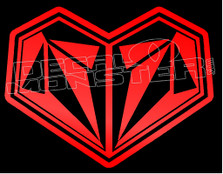 Volcom Logo Heart Love Decal Sticker