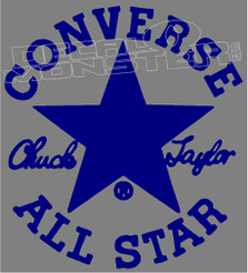 Converse All Star Chuck Taylor Shoes Decal Sticker