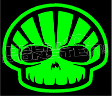 Shell Hell Skull Decal Sticker