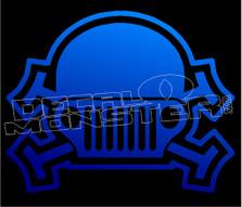 Jeep Skull Cross Bones 2 Decal Sticker