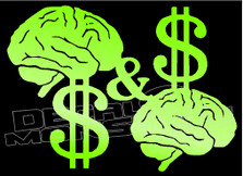 Mind on My Money & My Money on My Mind Decal Sticker