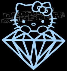 Hello Kitty Diamond Supply co Decal Sticker