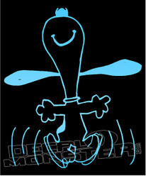Snoopy Happy Dance Silhouette 4 Decal Sticker