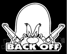 Yosemite Sam Back Off Silhouette Decal Sticker
