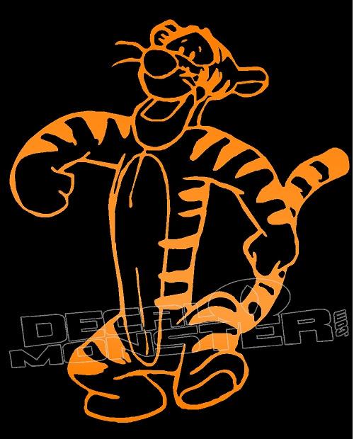 "Tigger Tiger Cat Winnie Pooh Sticker Decal sticker Car Truck 6/"" Orange"