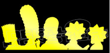 Simpsons Family Head Silhouette Decal Sticker