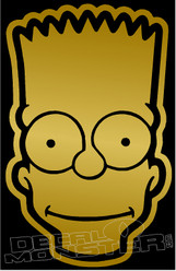 Bart Simpson Head Silhouette 1 Decal Sticker
