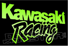 Kawasaki Racing Motorcycle Decal Sticker