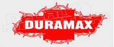 Chevy Diesel Duramax Barb Wire 11 Decal Sticker