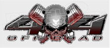 4x4 Off Road Skull and Pistons Decal Sticker