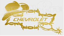 Chevrolet Cowboy Bow Tie Barb Wire  Edition 3 Decal Sticker