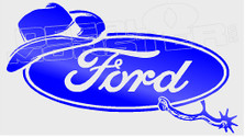 Ford Cowboy Spurs Edition 1 Decal Sticker