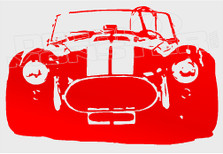 AC Cobra Front Profile Decal Sticker