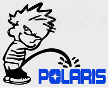 Calvin Pees On Polaris Decal Sticker