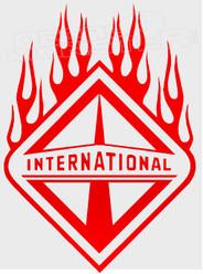 International Trucks Logo Flames 1 Decal Sticker