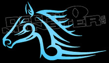 Tribal Wicked Fast Horse Decal Sticker
