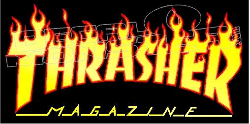 "Thrasher Magazine Flame Fire Logo Sticker 10/"" Skateboard Decal 3 Color Choices"