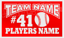 Baseball Teams Name Baseball Players Name Custom Decal Sticker