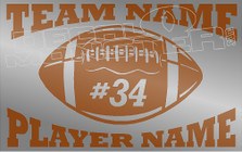 Football Teams Name Football Players Name Custom Decal Sticker