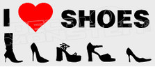 I Heart Love Shoes Decal Sticker