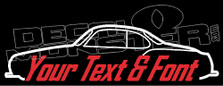 Custom YOUR TEXT Volkswagen Type 14 Karmann Ghia Classic Decal Sticker