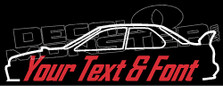 Custom YOUR TEXT Subaru Impreza WRX 1st Gen GC8 (Large Wing) Decal Sticker