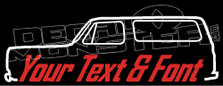 Custom YOUR TEXT Chevrolet Blazer K5 Classic Truck Decal Sticker