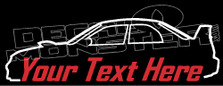 Custom YOUR TEXT Subaru Impreza Wrx STi (GD) JDM Decal Sticker
