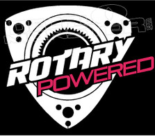 Rotary Powered Wankel Silhouette RX7 FB FD 12A 13B Decal Sticker