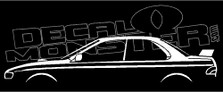 Subaru Impreza WRX Coupe 1st Gen (Large Wing) Decal Sticker