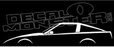 Nissan 300ZX (Z31) Fairlady Sports Car Decal Sticker