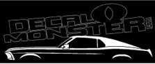 Ford Mustang 1969 Fastback Classic Decal Sticker