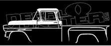 1958 Chevrolet Task Force Step Side Classic Truck Decal Sticker
