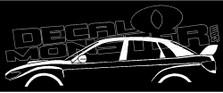 Subaru Impreza WRX STI 3rd Gen Sedan 2007-2011 Decal Sticker