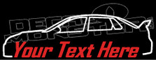 Custom YOUR TEXT Subaru Impreza WRX STI Sedan GE (2013) Decal Sticker