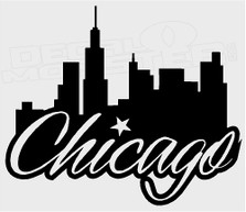 City of Chicago Silhouette Decal Sticker
