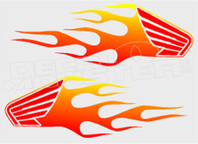 Honda Flames 11 Decal Sticker
